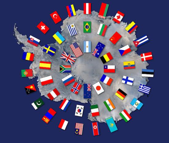 دول معاهدة القطب الجنوبي.