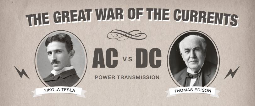 حرب التيارات.  AC vs DC